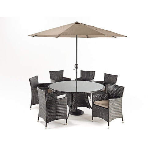 Luxe Round Dining 6 - Awnings Direct
