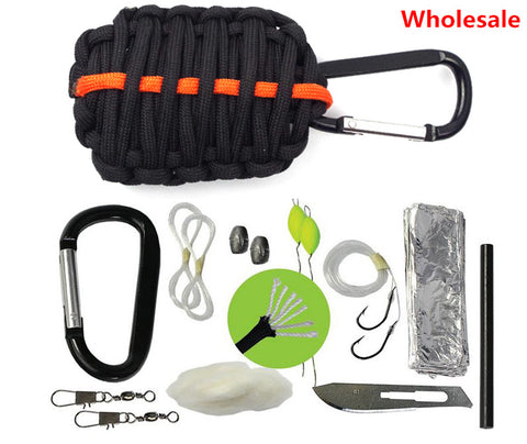 3PCS BEST Survival Kit - Survival GRENADE Emergency Key Chain Survival Kit - Paracord Grenade Survival Kit with+ Fire Starter - Alpha Male Global