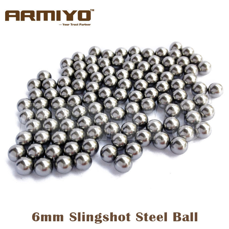 Armiyo 200pcs/lot 6mm Diameter Slingshot Sling Shot Stainless Steel Balls For Hunting Shooting Compound Bow Free Shipping - Alpha Male Global