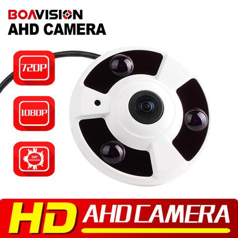 1.0MP 2MP Panoramic AHD Camera Fisheye Lens 360 Degree View 720P 1080P AHD Camera IR 10m Analog Surveillance Cameras Metal