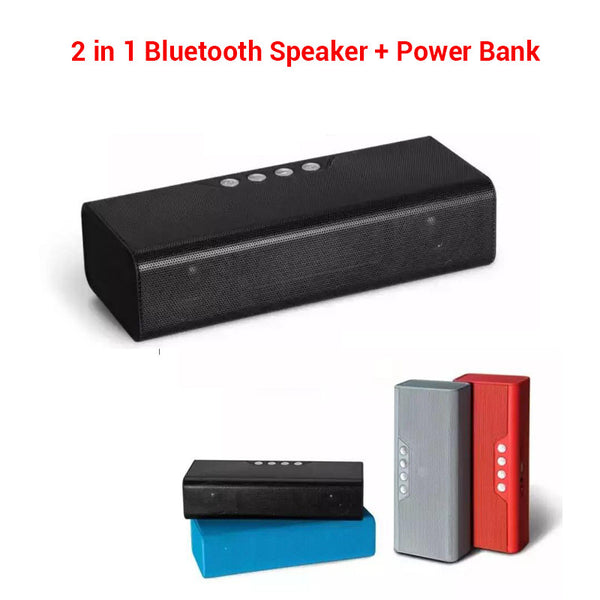 Outdoor sports 4000mAh Portable Wireless Stereo Bluetooth Speaker 10W  with Power bank TF Super Bass Sound Box Boombox Subwoofer - Alpha Male Global