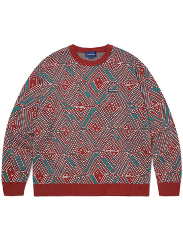 African Jacquard Sweater