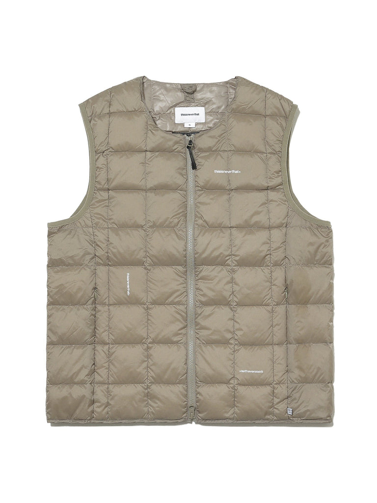 TNT x TAION CREW NECK W-ZIP DOWN VEST - thisisneverthat