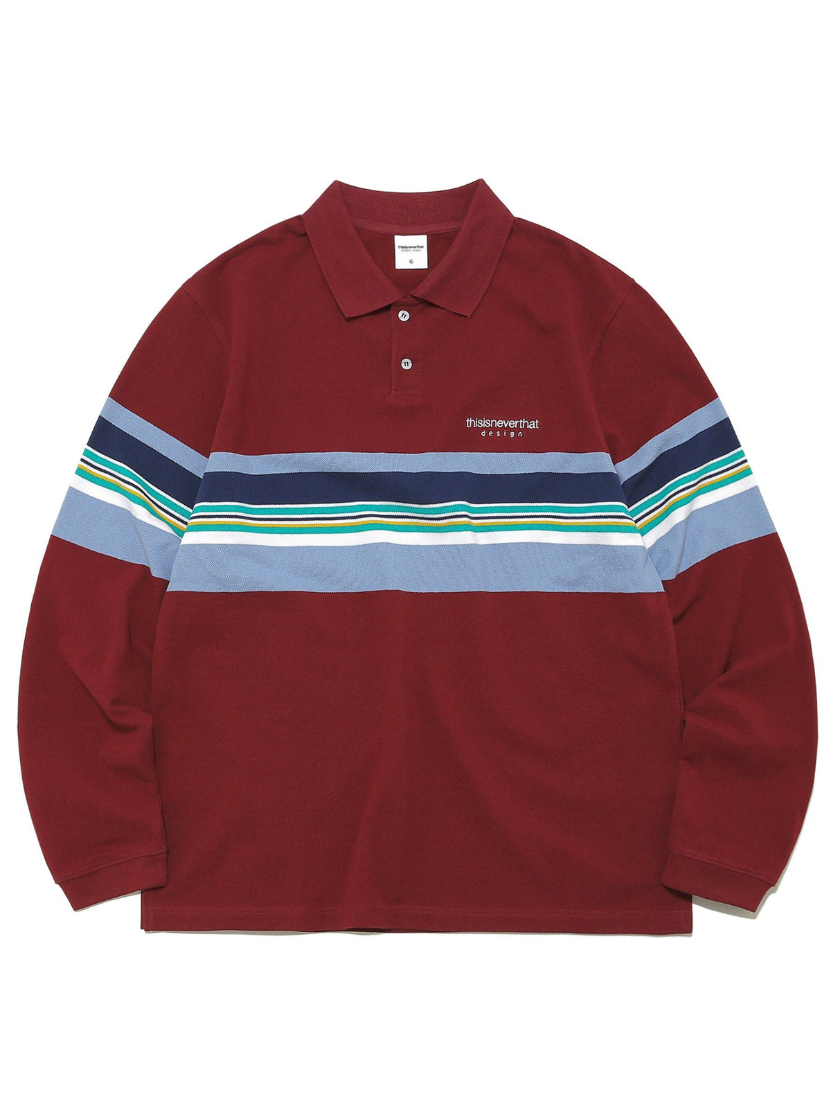 L-Logo Striped Jersey Polo - thisisneverthat