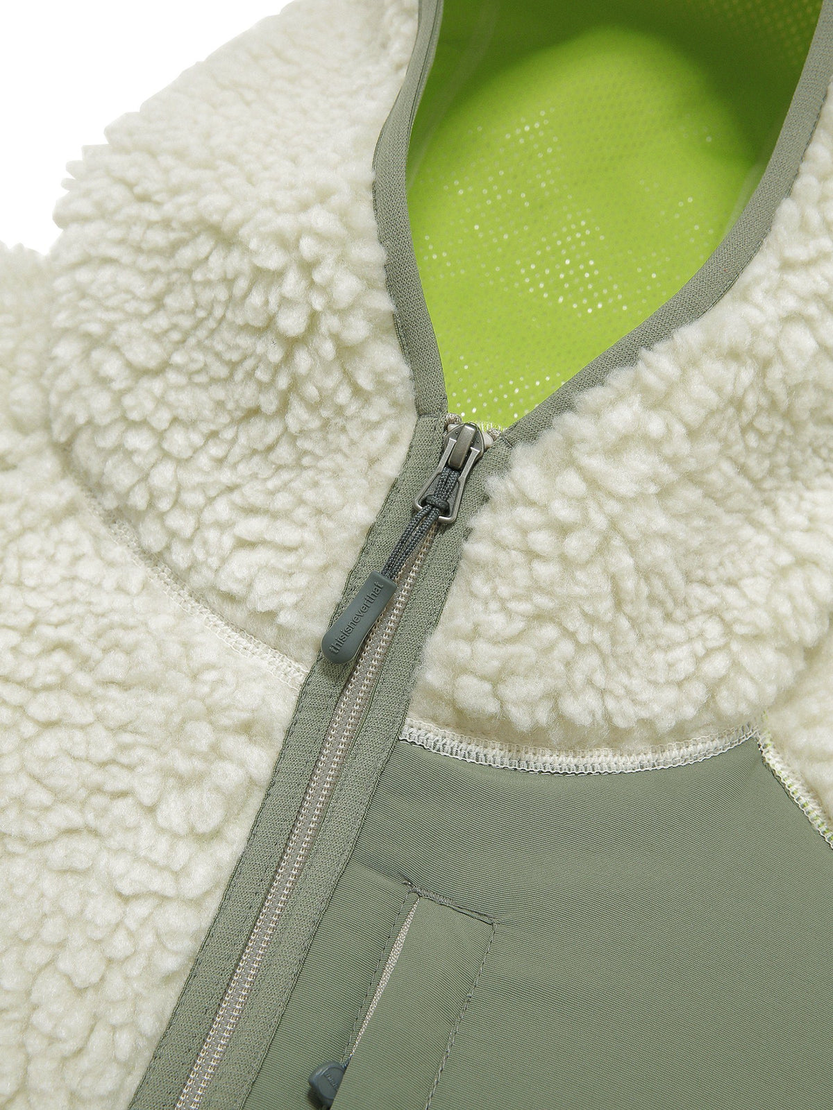 Hooded Boa Fleece Jacket - thisisneverthat