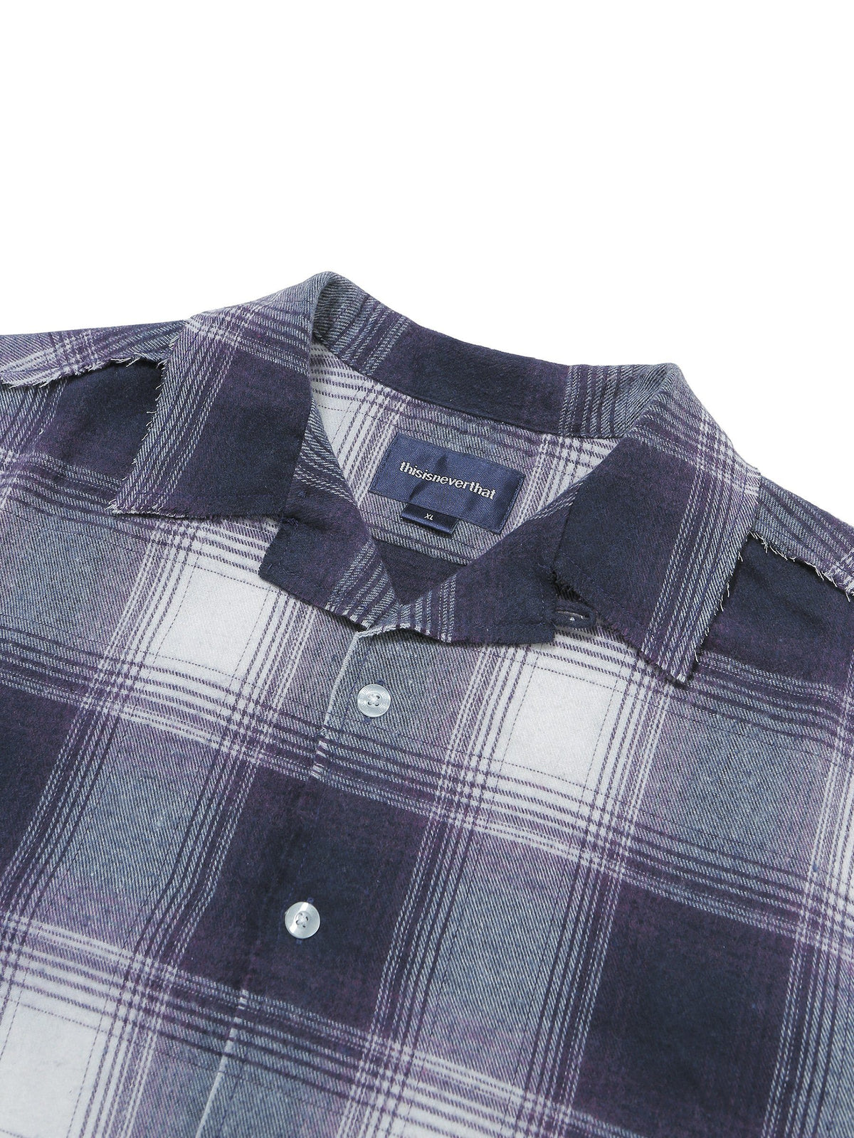 Cut-Off Check Shirt - thisisneverthat