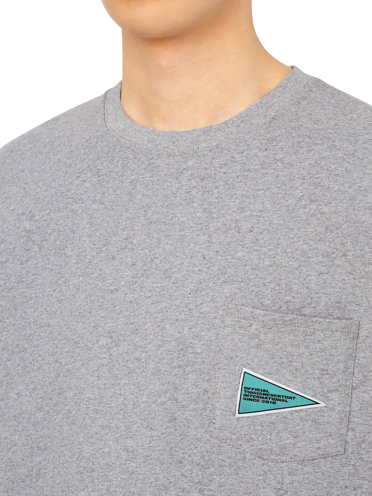 Flag Pocket L/SL Top L/SL T-Shirt