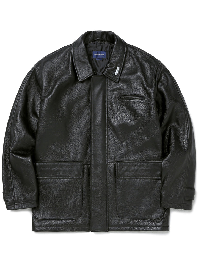 Leather Overcoat - thisisneverthat
