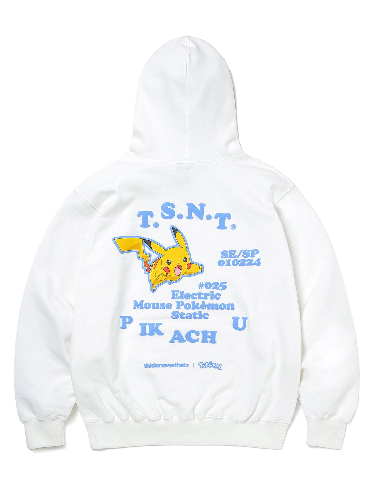 Pokemon Pikachu Hooded Sweatshirt - thisisneverthat