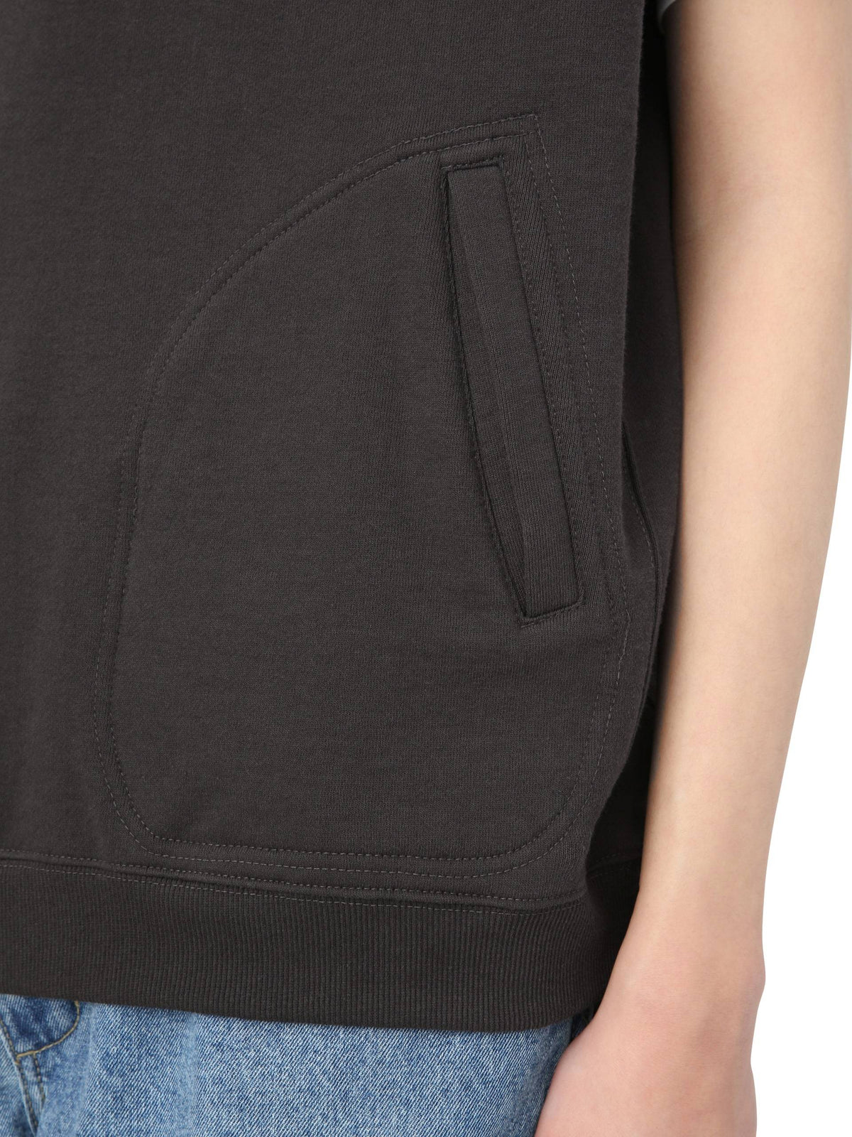 Paneled Sleeveless Sweatshirt TOPS / SWEATERS