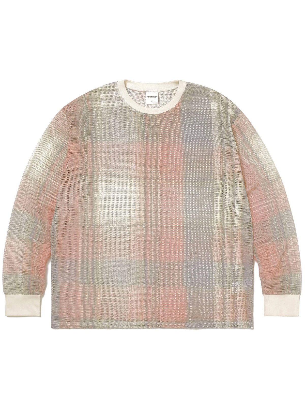 Printed Plaid Mesh Top TOPS / SWEATERS