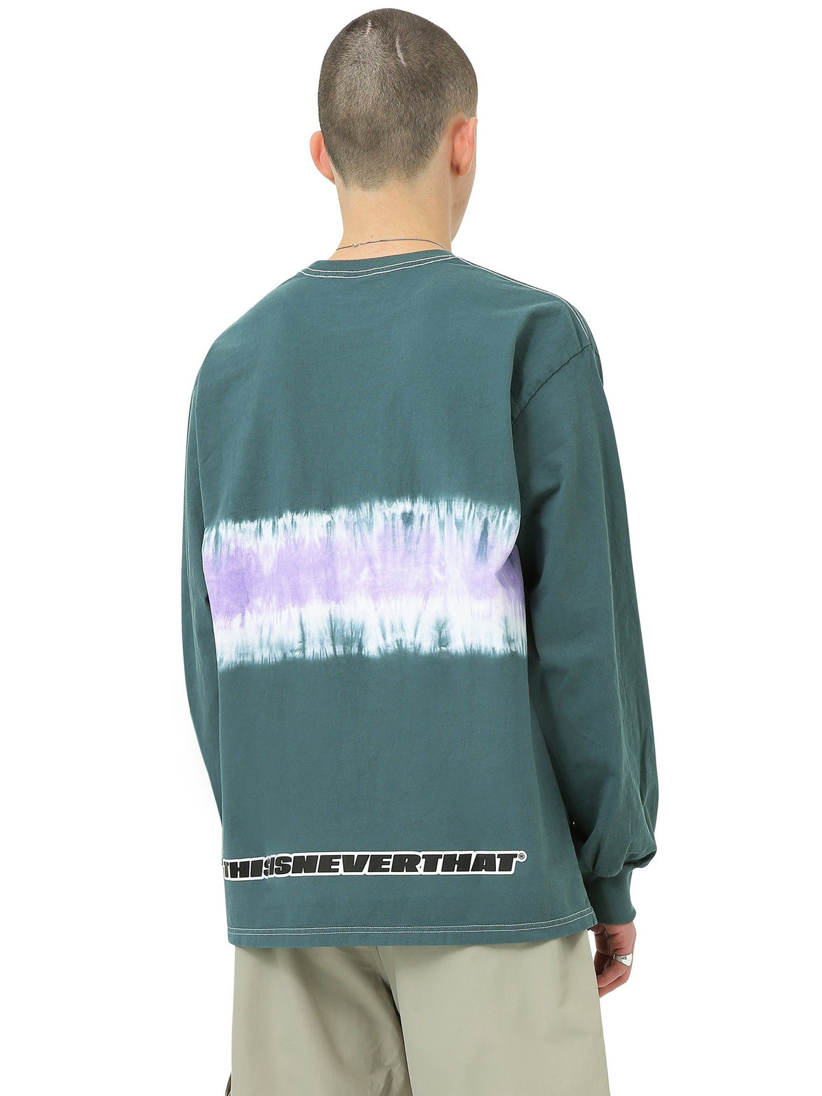 Striped Tiedye L/SL Top - thisisneverthat