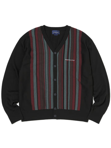 DSN-Logo Striped Cardigan - thisisneverthat