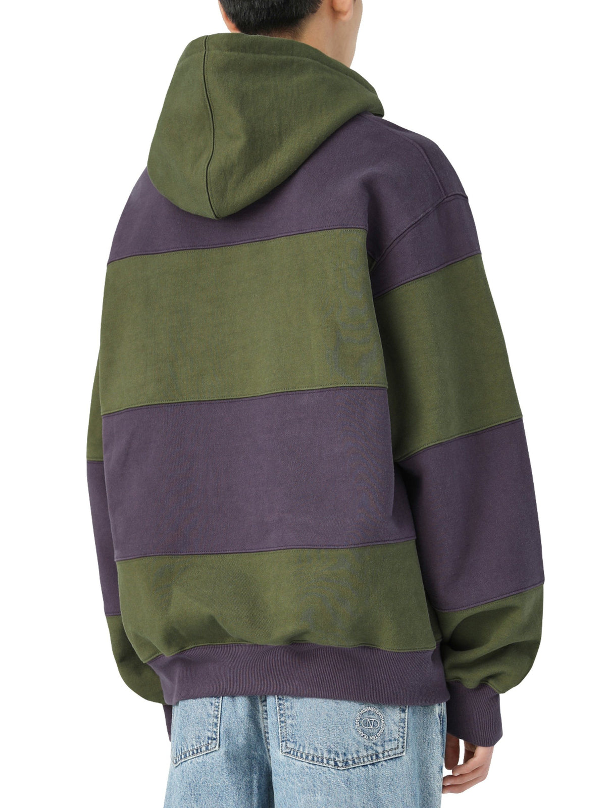 Striped Hooded Sweatshirt - thisisneverthat