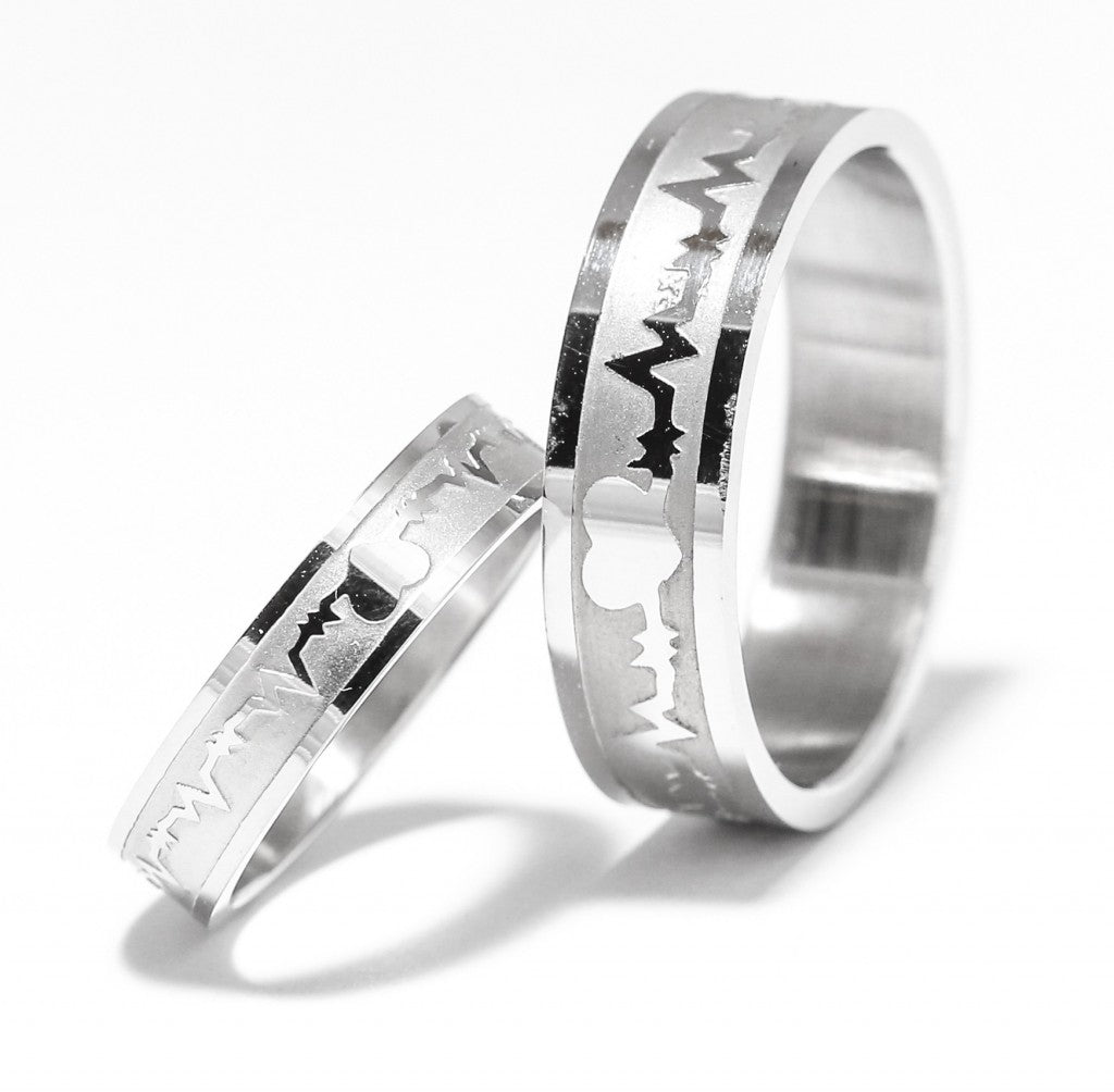 wedding cool titanium ring men s mens rings black