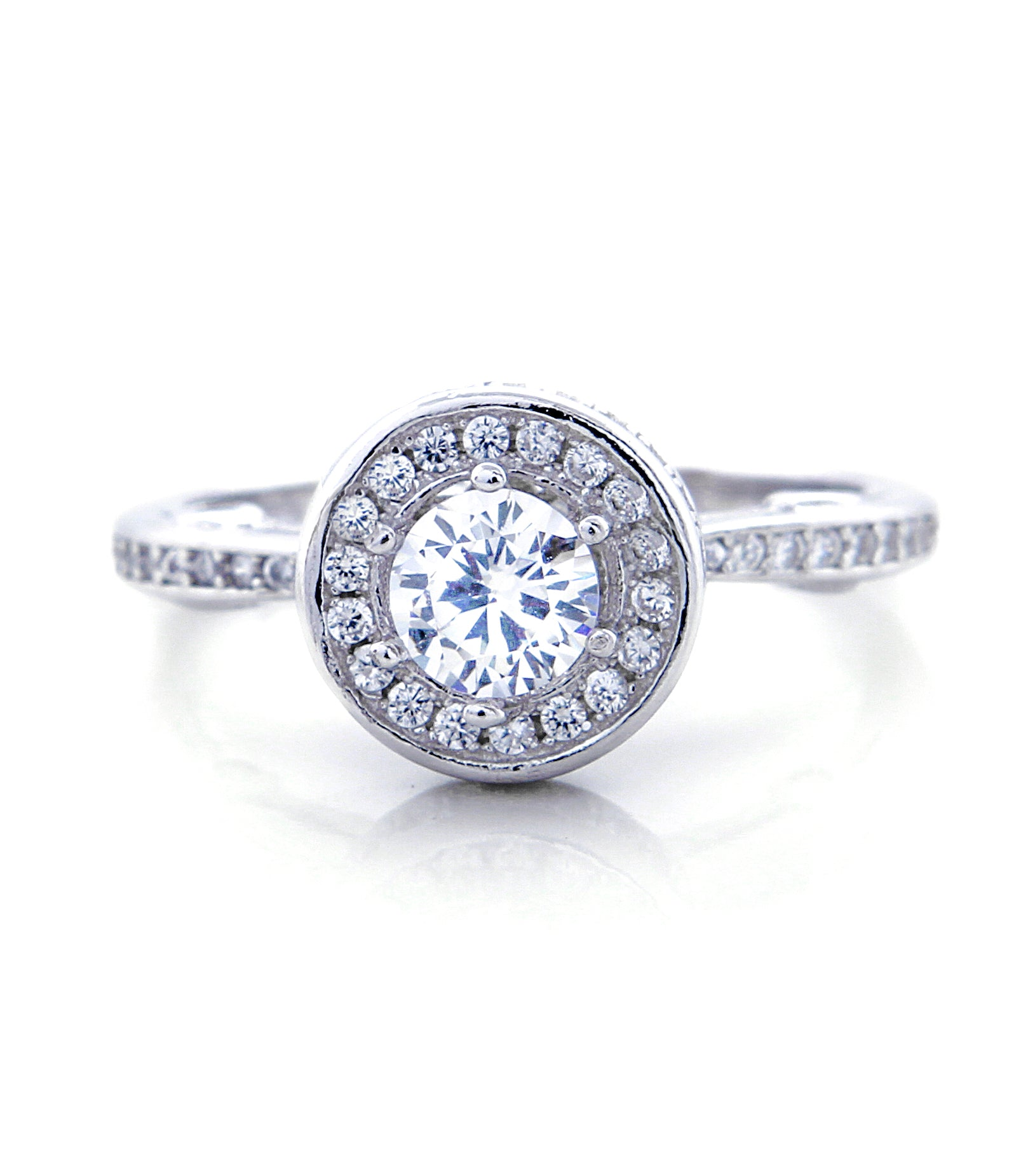 Kylie Engagement Ring with Swarovski