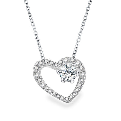 Evie Heart Necklace with Swarovski