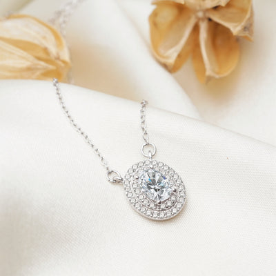 Heidi Sterling Silver Necklace with Swarovski