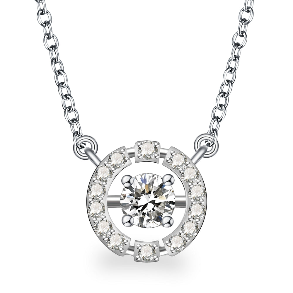 Evelyn Sterling Silver Necklace with Swarovski