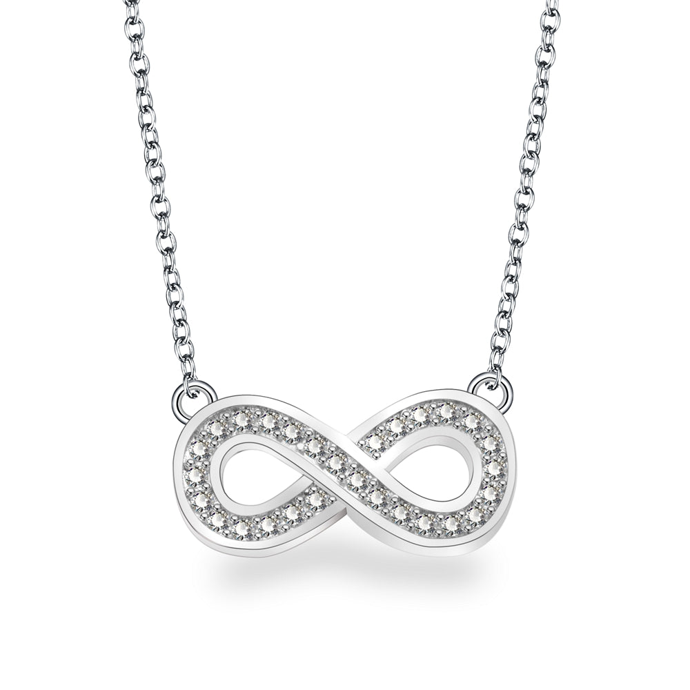 Adley Infinity Necklace with Swarovski
