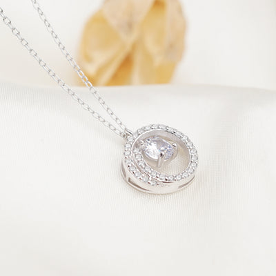 Dinah Sterling Silver Necklace With Swarovski