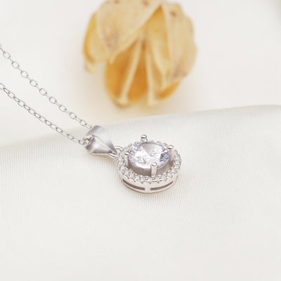 Vernice Sterling Silver Necklace with Swarovski