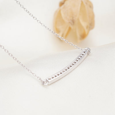 Amanda Sterling Silver Necklace With Swarovski