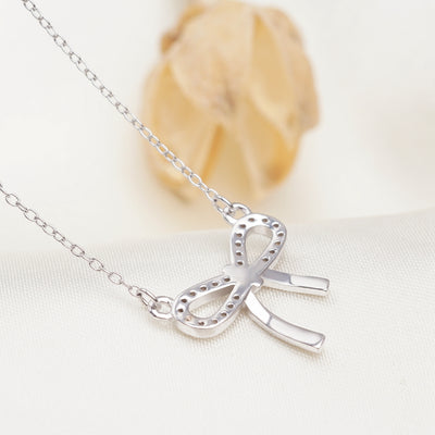 Camila Ribbon Necklace with Swarovski