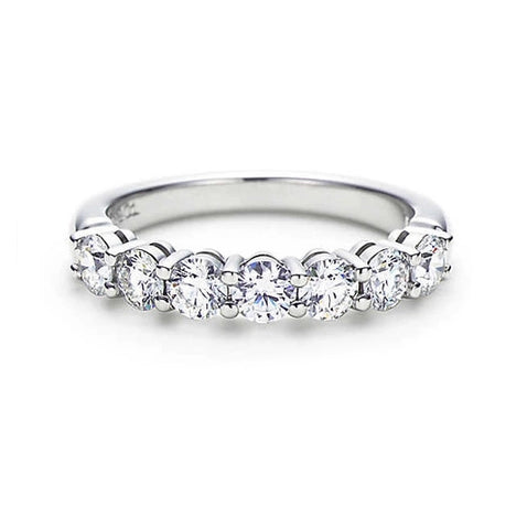 Tiffany Inspired Titanium Eternity Ring with Swarovski Crystals