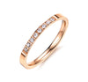 Sleek Half Eternity Ring with Swarovski Crystals in Rose Gold
