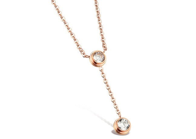 Charlize Rose Gold Plated Titanium Necklace