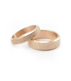 Frosted Rose Gold Plated Titanium Wedding Band (Men)