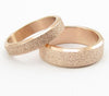 Frosted Rose Gold Plated Titanium Wedding Band