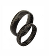 Script in Black Titanium Couple's Rings (Men)