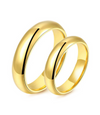 Classic Yellow Gold Plated Titanium Wedding Ring