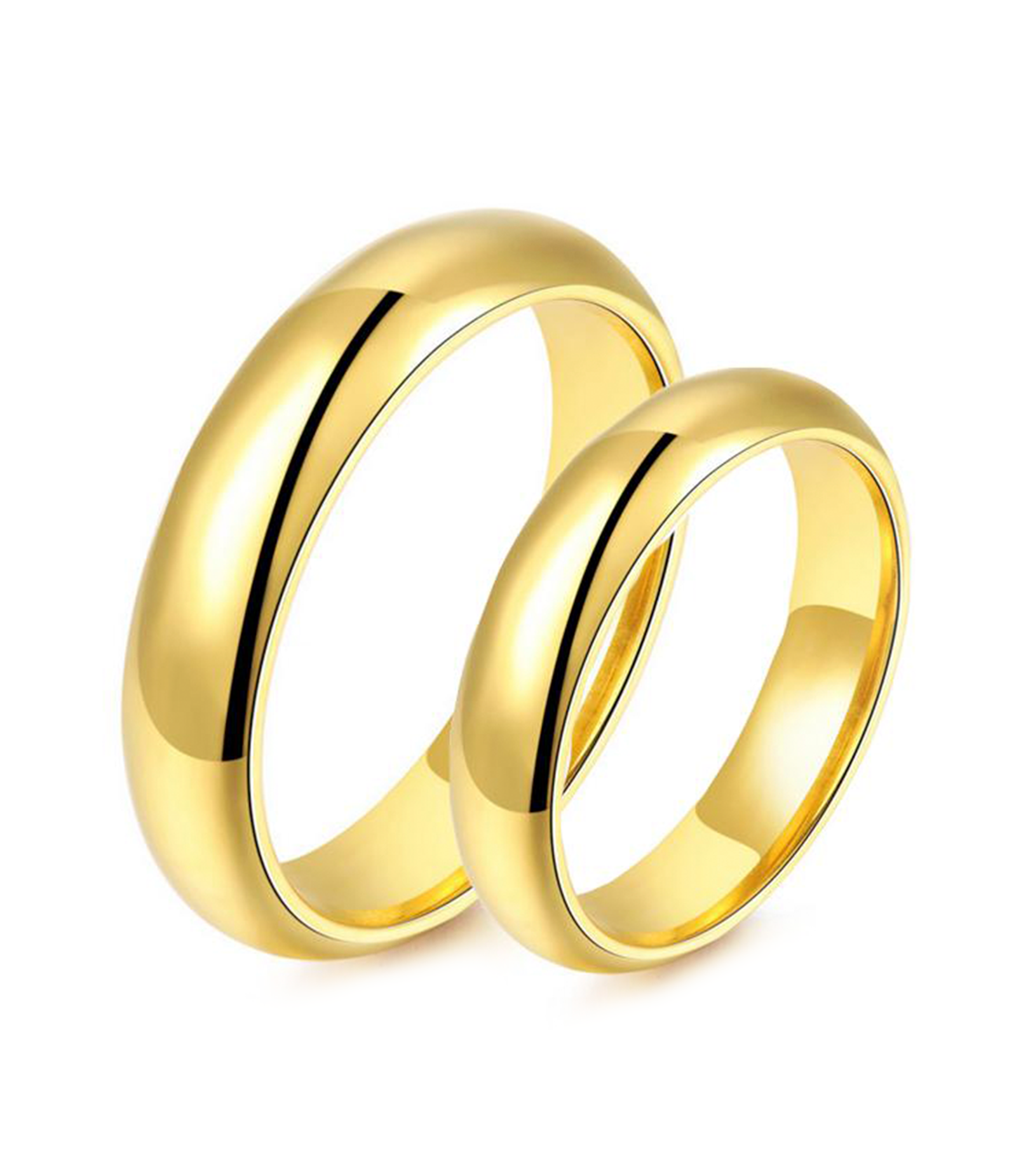 Classic Yellow Gold Plated Titanium Wedding Ring (Men)