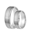 Silver Groove Titanium Wedding Band