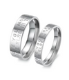 Wedding Vow Titanium Couple Ring