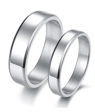 Plain Titanium Couple Ring