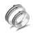 Frosted Silver Titanium Couple Rings (Men)