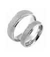 Silver Matte Titanium Couple Ring (Men)