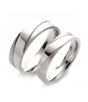 Polished Inlay Titanium Wedding Ring (Men)