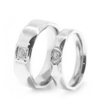 Madison Titanium Wedding Ring with Swarovski Crystals