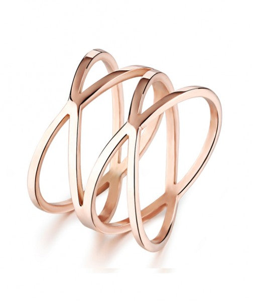 Promise Ring in Rose Gold Plated Titanium