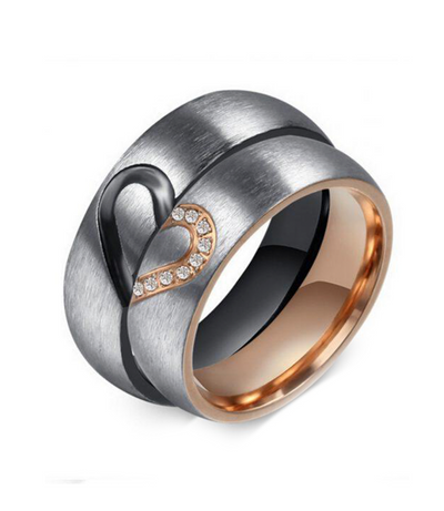 Rundle Heart Titanium Wedding Ring (Men)
