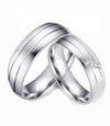 Avery Silver Titanium Wedding Ring