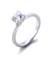 Ally Engagement Ring with Swarovski