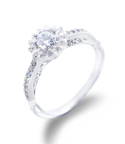 Stacey Engagement Ring with Swarovski