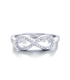 Infinity with Stones Promise Ring