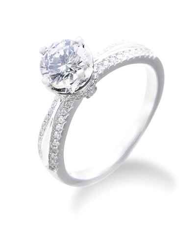 Georgie Engagement Ring with Swarovski